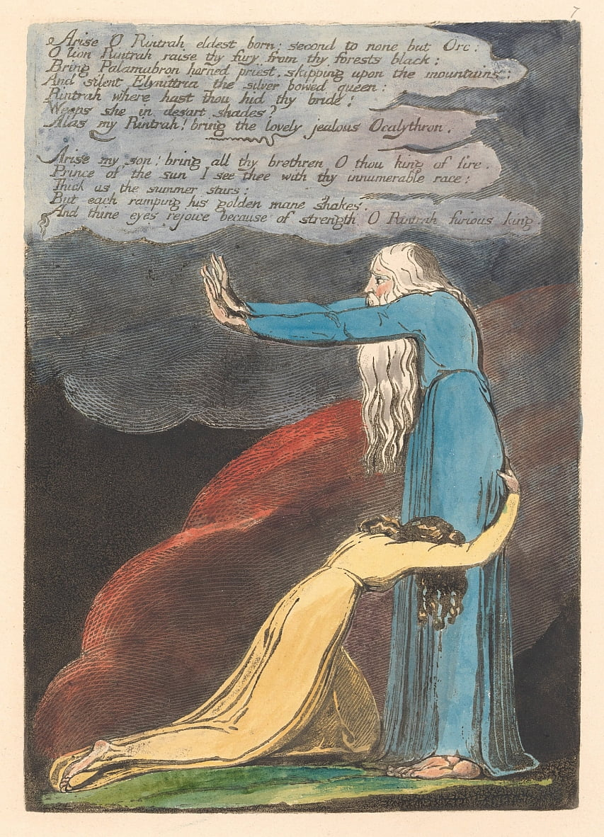 LEurope . Une prophétie, Planche 9, Arise O Rintrah. . . . (Bentley 11) - William Blake
