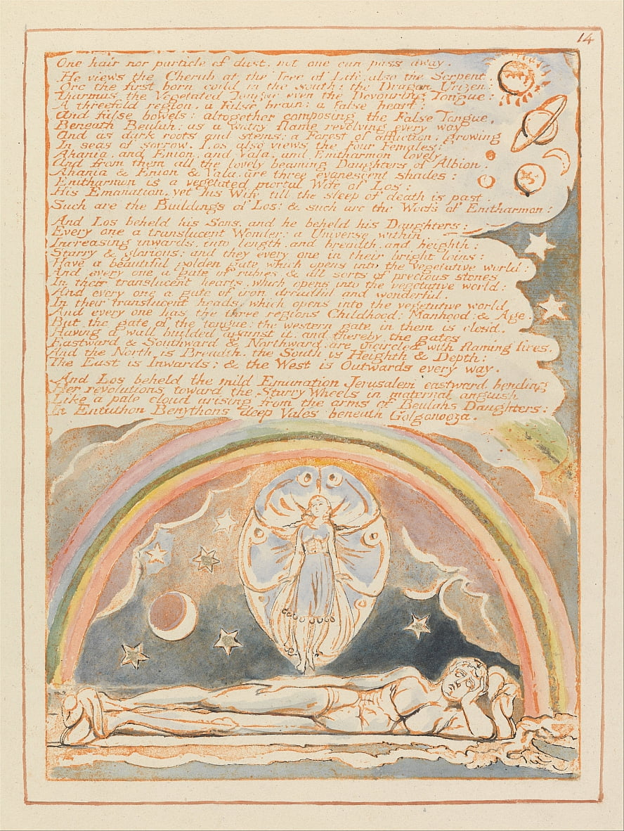 Jérusalem, planche 14, - William Blake