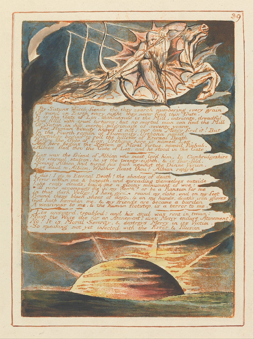 Jérusalem, Planche 39, - William Blake