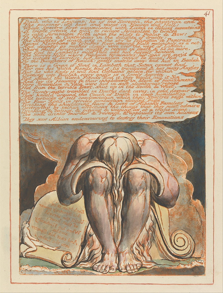 Jérusalem, planche 41, - William Blake