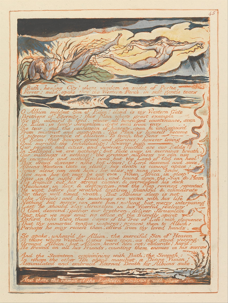Jérusalem, plaque 45, - William Blake