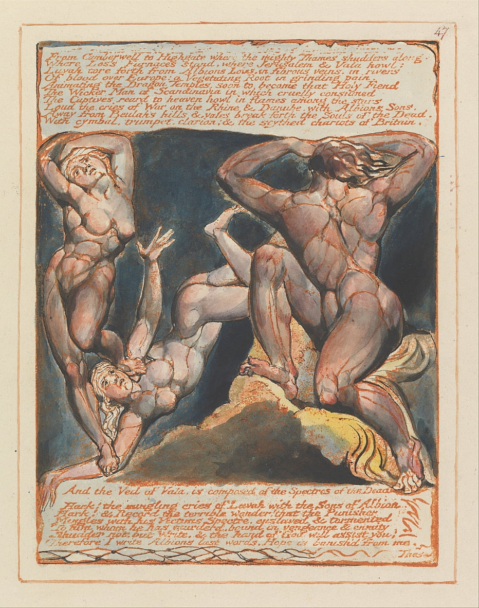 Jérusalem, planche 47, De Camberwell à Highgate .... - William Blake