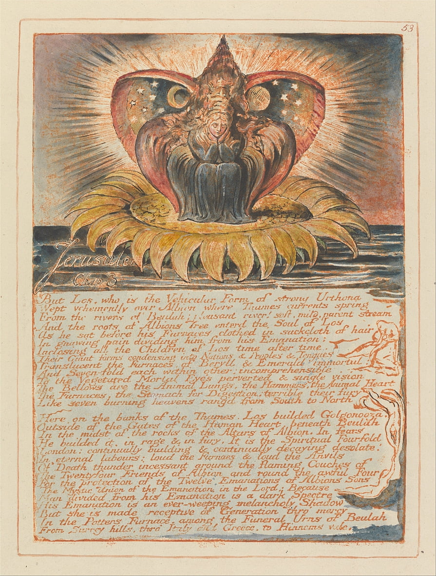 Jérusalem, Planche 53, Jérusalem, Chap. 3 - William Blake