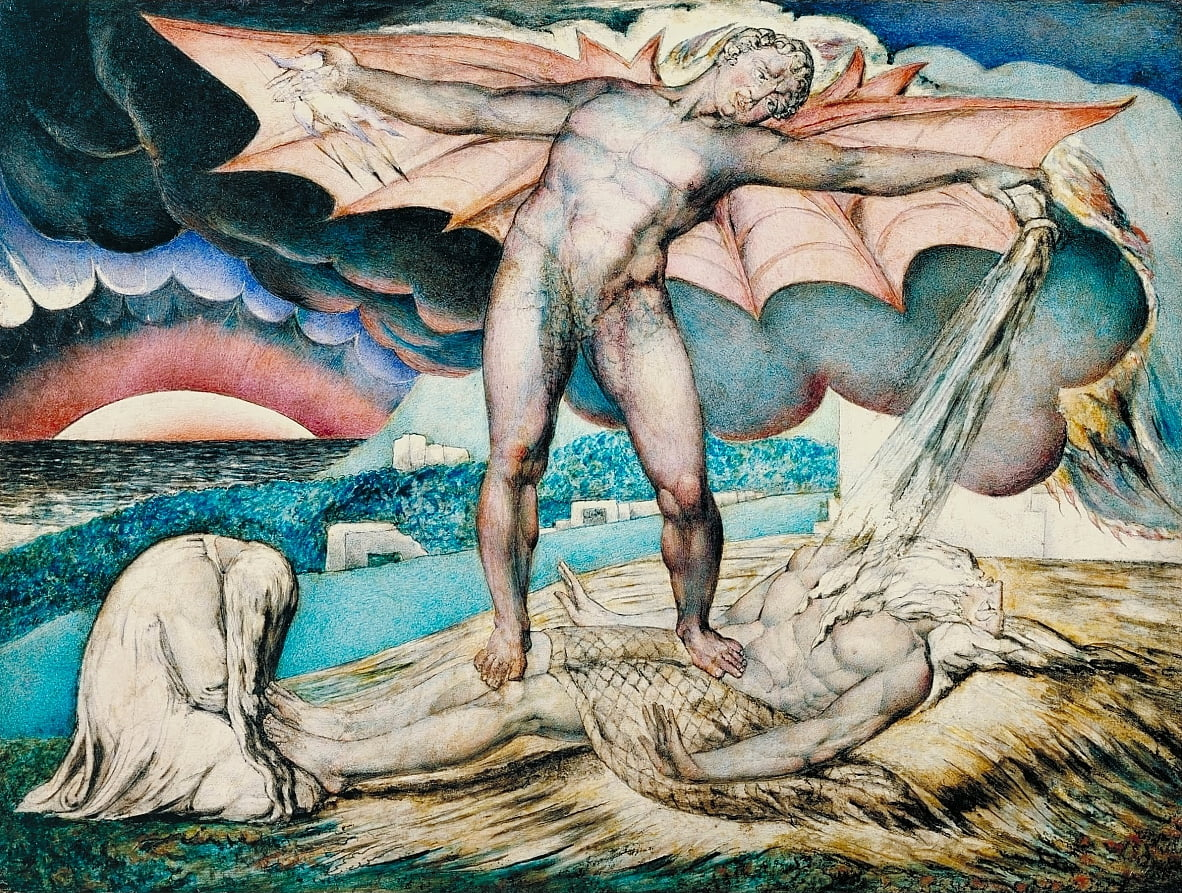 Satan Smiting Job with Sore Boils - William Blake