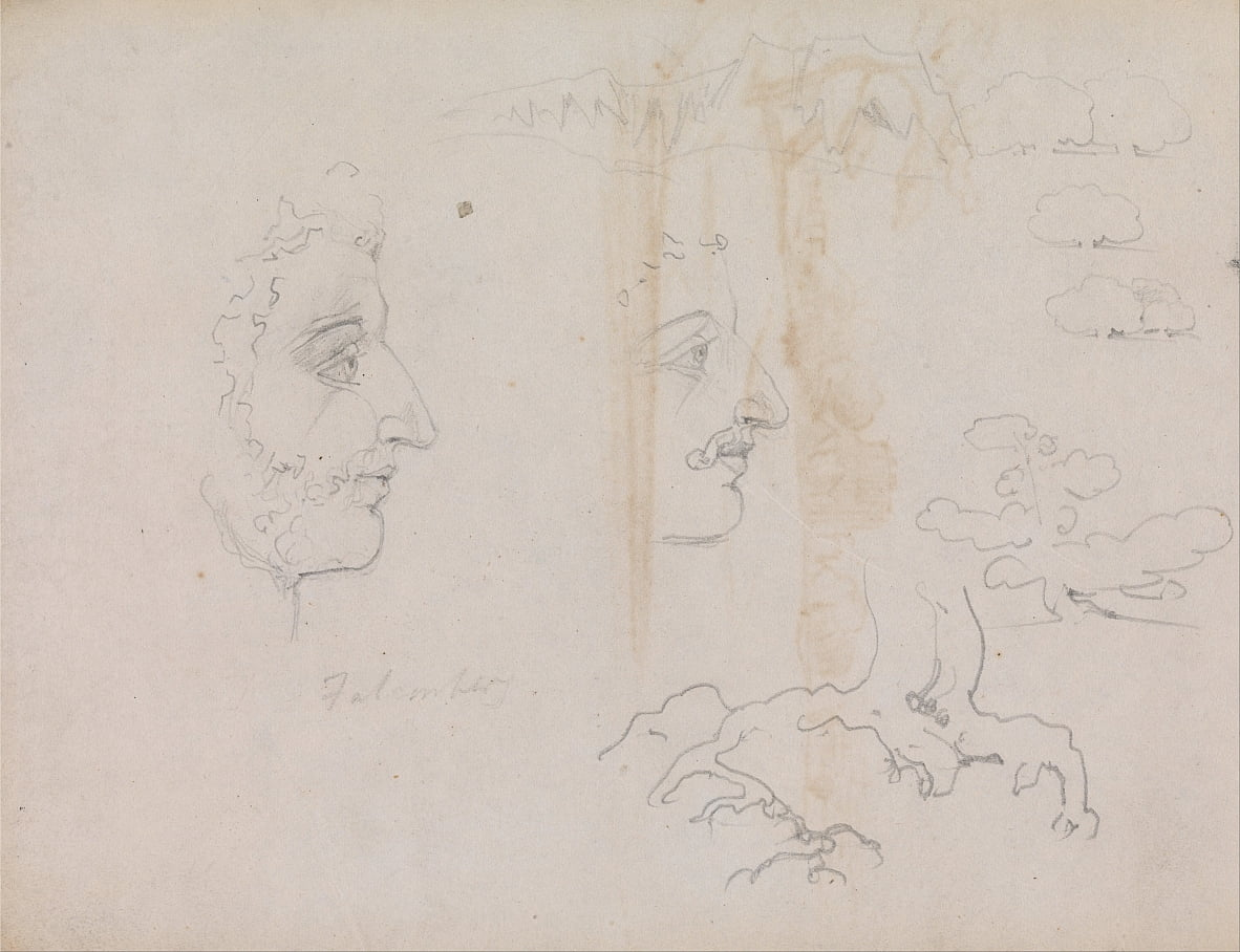 Feuillet du Blake-Varley Sketchbook de 1819, Pages 37 et 38 - William Blake