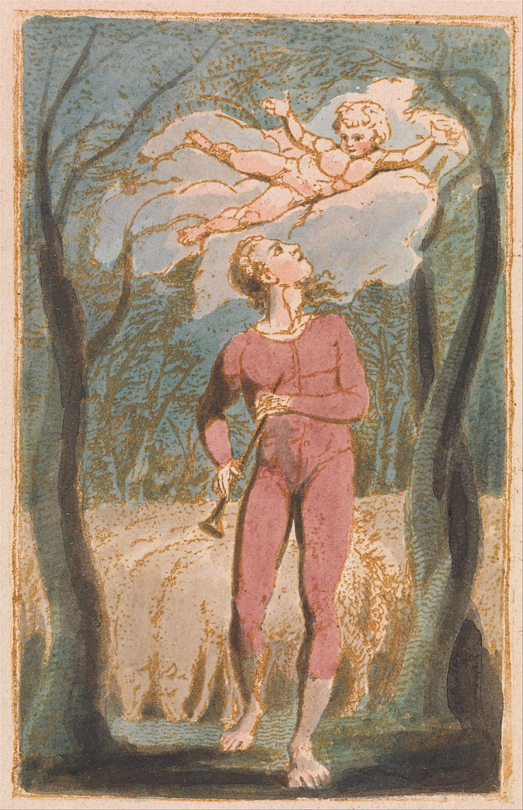 Songs of Innocence, Planche 1, Frontispice (Bentley 2) - William Blake