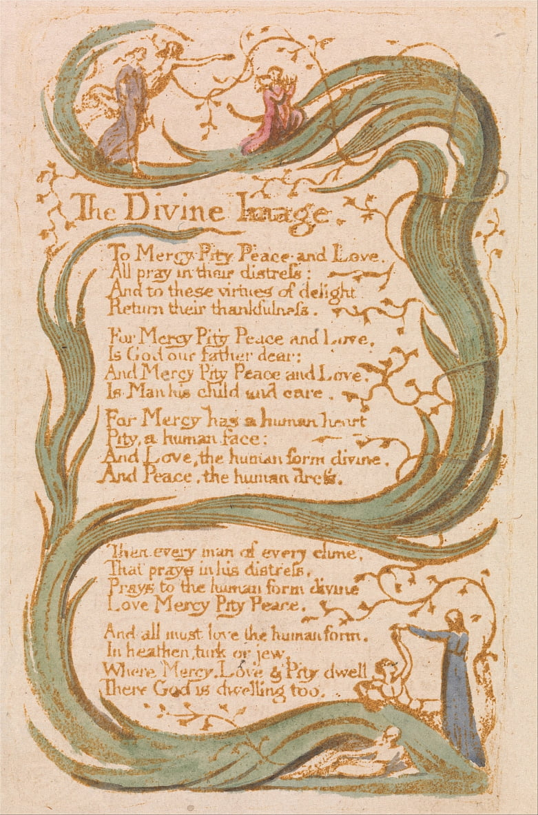 Chansons dinnocence, planche 12, - William Blake