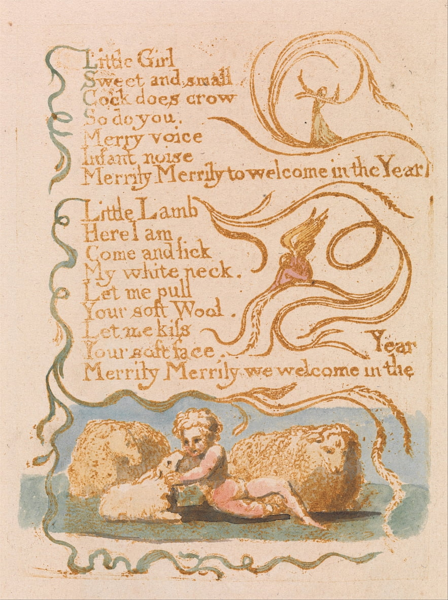 Songs of Innocence, Planche 26, Printemps (Bentley 23) - William Blake