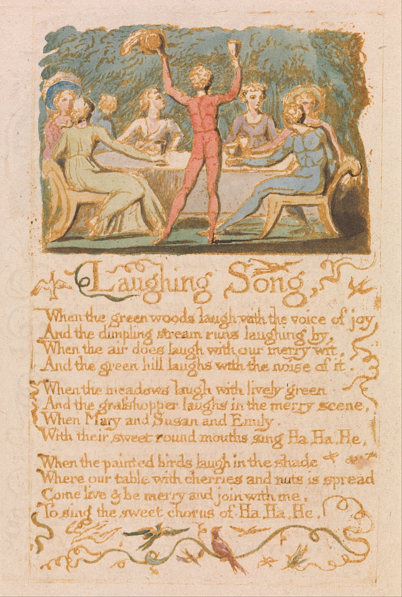 Songs of Innocence, Planche 28, - William Blake