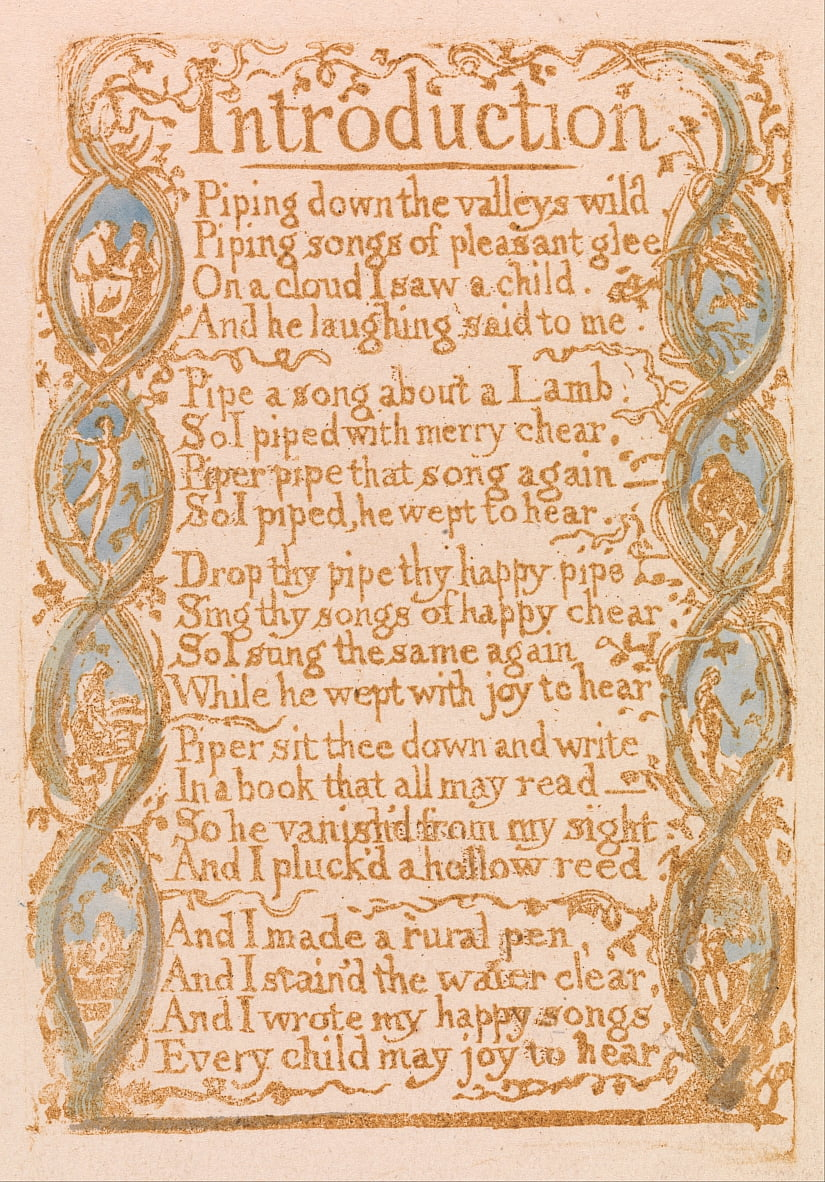 Songs of Innocence, Planche 3, Introduction (Bentley 4) - William Blake