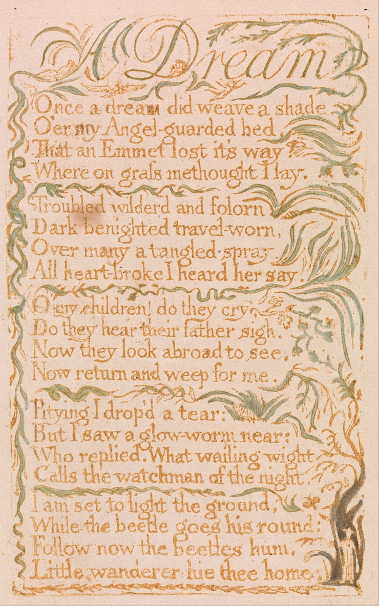 Chansons dinnocence, planche 4, - William Blake