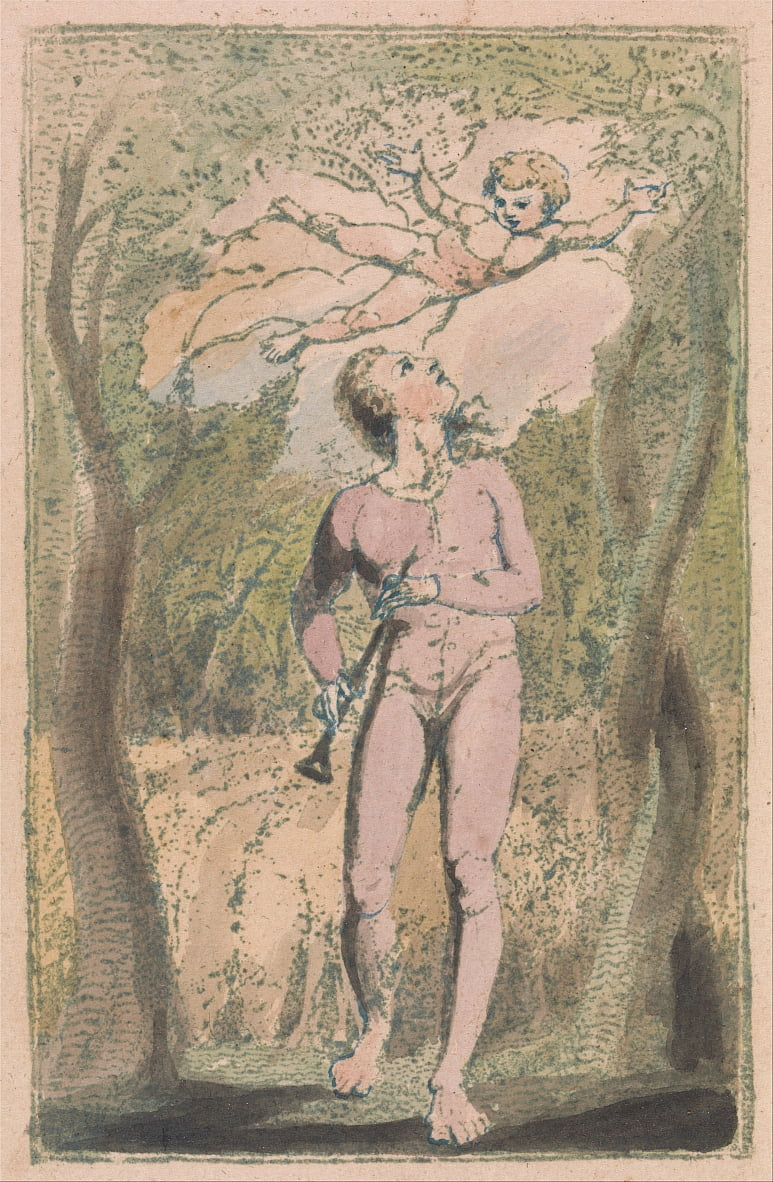 Chansons dInnocence et dExpérience, Planche 1, Innocence Frontispice (Bentley 2) - William Blake