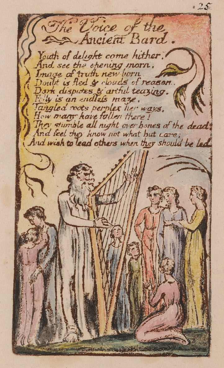 Songs of Innocence and of Experience, Planche 25, - William Blake