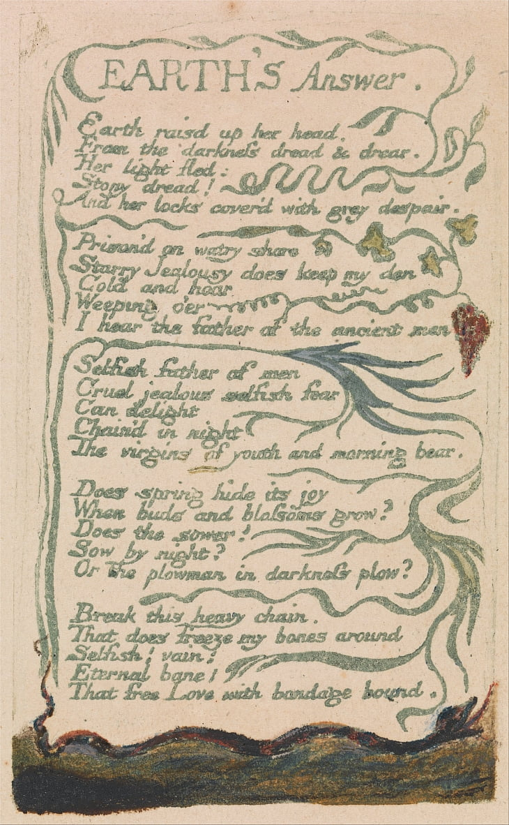 Songs of Innocence and of Experience, Planche 35, - William Blake