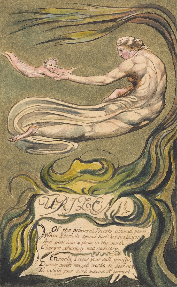 Le premier livre dUrizen, planche 2 (b), Preludium (Bentley 2b) - William Blake