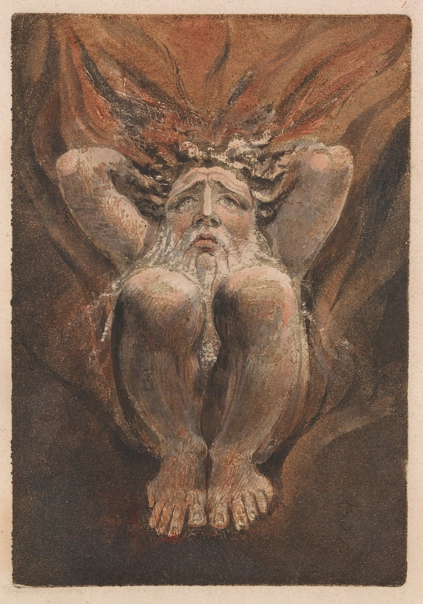 Le premier livre dUrizen, planche 21 (Bentley 16) - William Blake