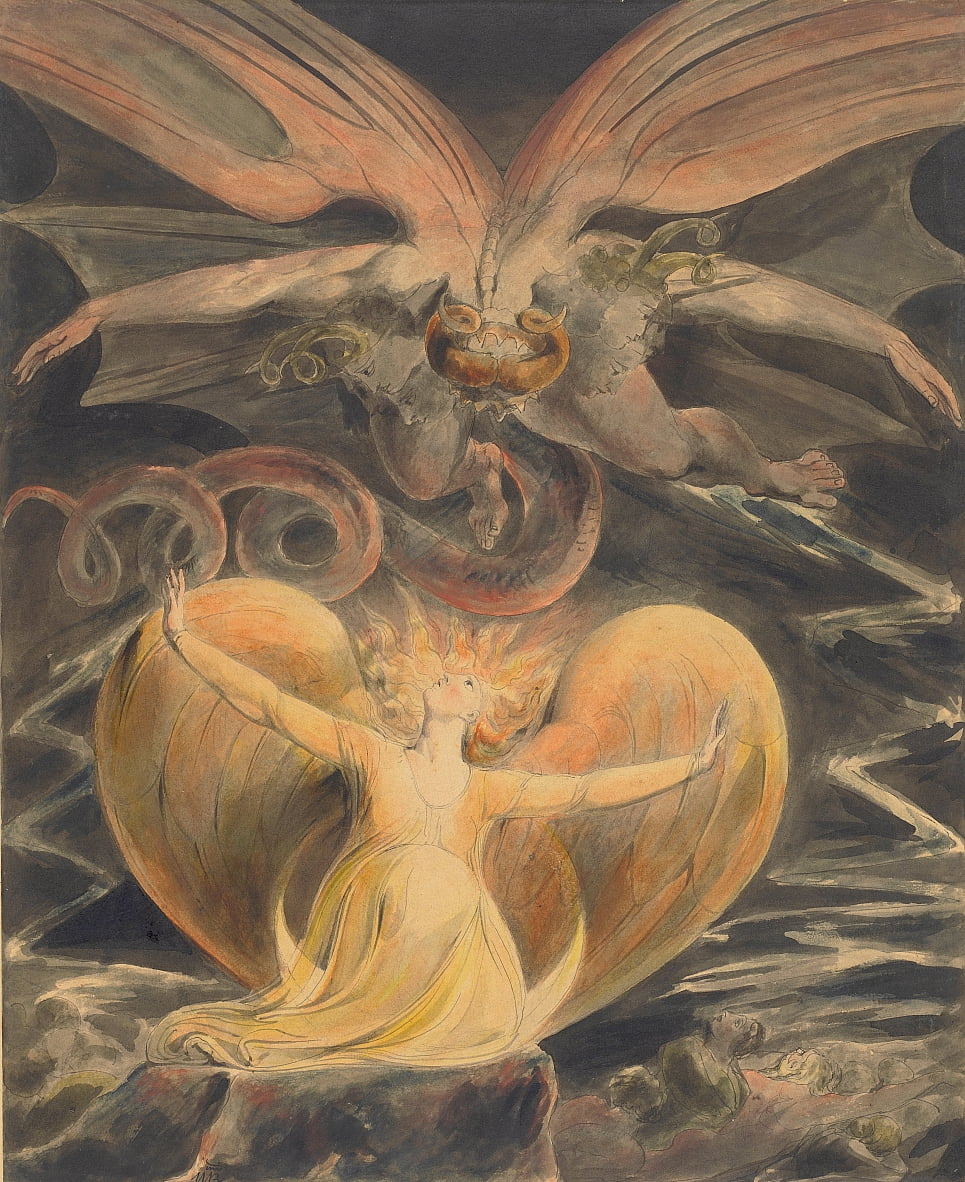 Le grand dragon rouge et la femme vêtue du soleil - William Blake