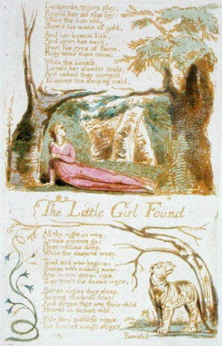 The Little Girl Found, planche 6 de Songs of Innocence, 1789 (gravure en relief avec wc sur papier) - William Blake