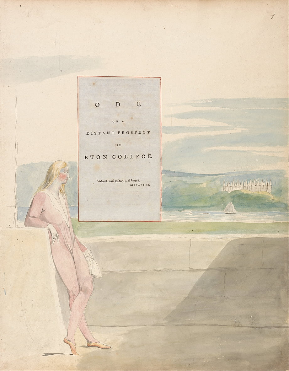 Les poèmes de Thomas Gray, Design 13, Ode sur une perspective lointaine dEton College. - William Blake