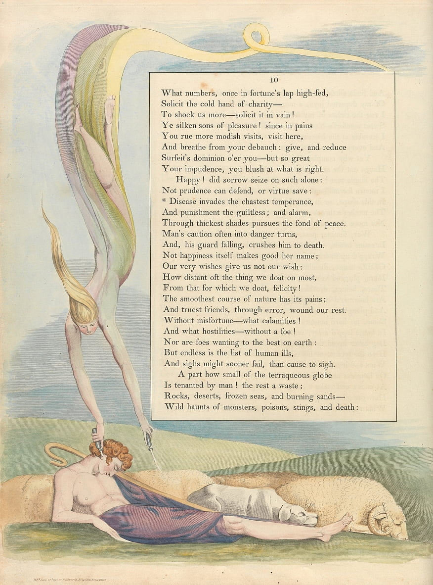 Youngs Night Thoughts, Page 10, - William Blake
