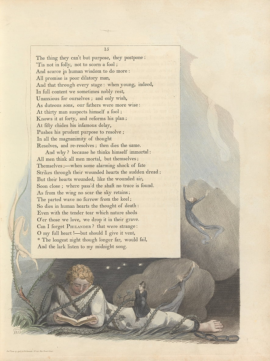 Youngs Night Thoughts, Page 15, - William Blake