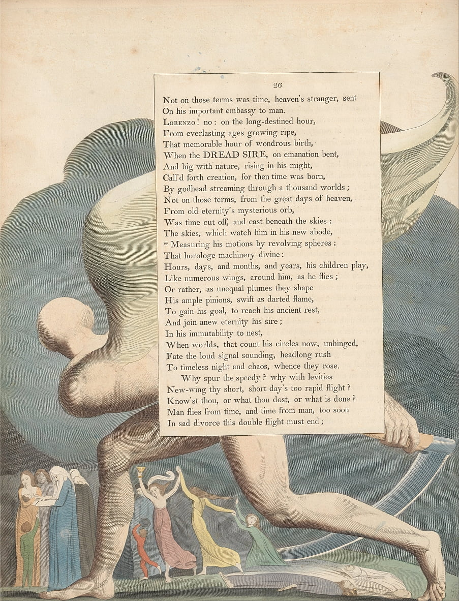 Youngs Night Thoughts, Page 26, - William Blake