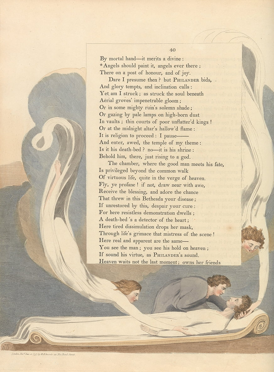 Youngs Night Thoughts, Page 40, Les anges devraient le peindre, les anges toujours là - William Blake