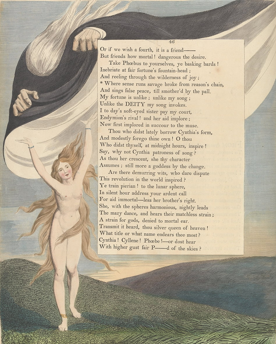 Youngs Night Thoughts, Page 46, Où le sens sexécute sauvage a rompu de la chaîne des raisons - William Blake