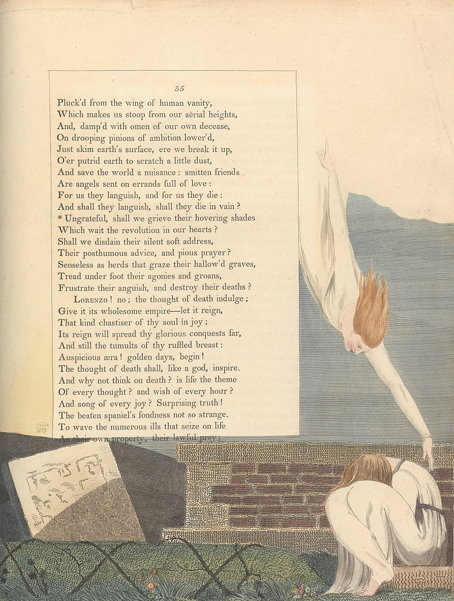 Youngs Night Thoughts, Page 55, - William Blake