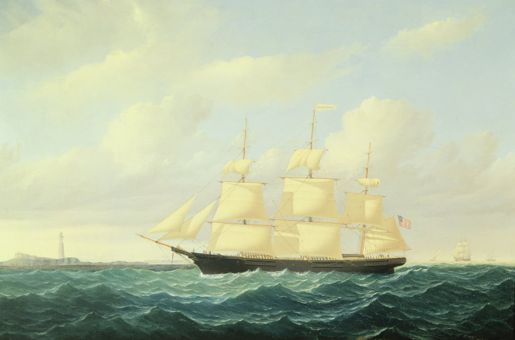 Clipper 'Dashing Wave' au large de Boston Light, 1855 - William Bradford