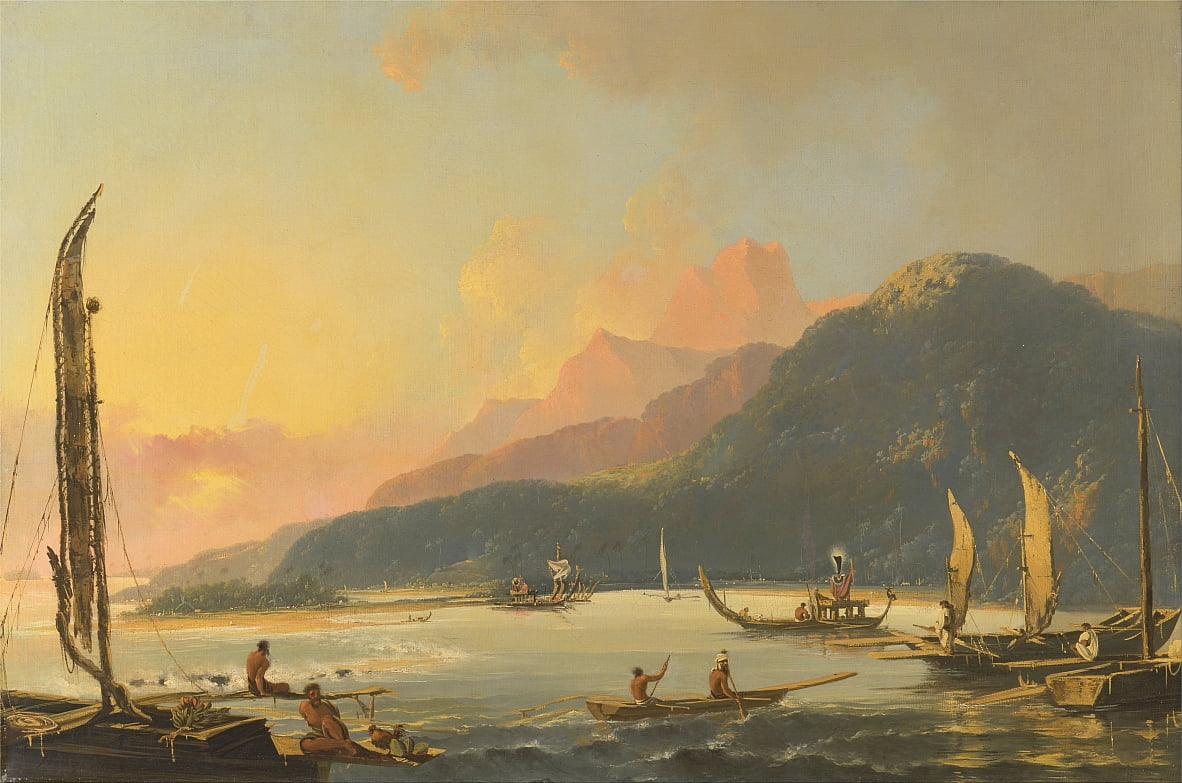 Galles de guerre de Tahiti à Matavai Bay, Tahiti - William Hodges