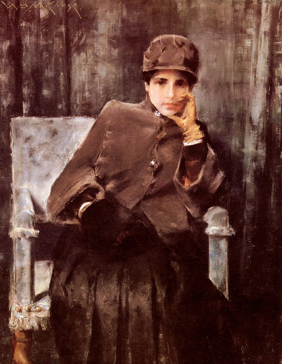 MéditationnEnglish: Portrait des artistes Wifen - William Merritt Chase