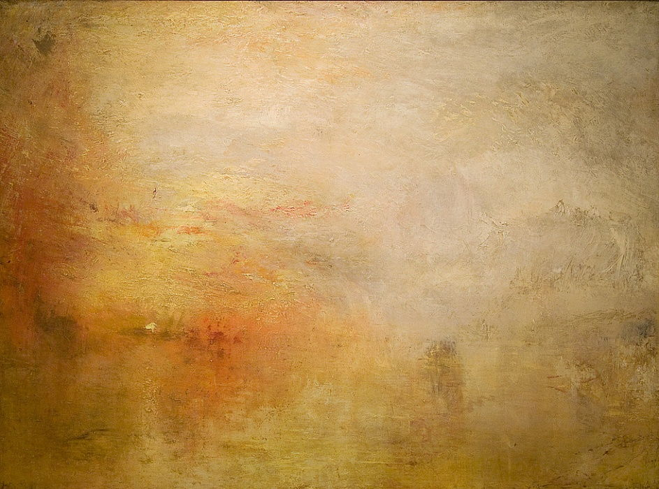 Coucher de soleil sur le lac - Joseph Mallord William Turner