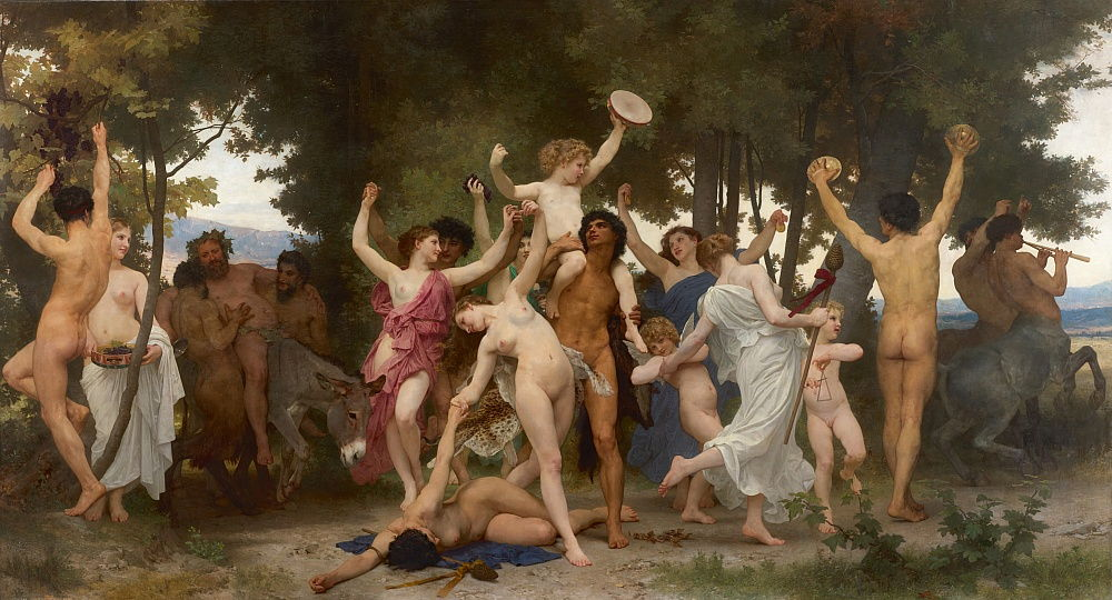 The youth of Bacchus La jeunesse de Bacchus, 1884.  - William Adolphe Bouguereau