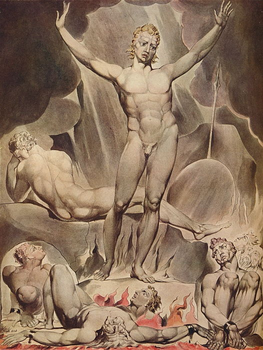 Satan réveillant les anges rebelles, 1808 - William Blake