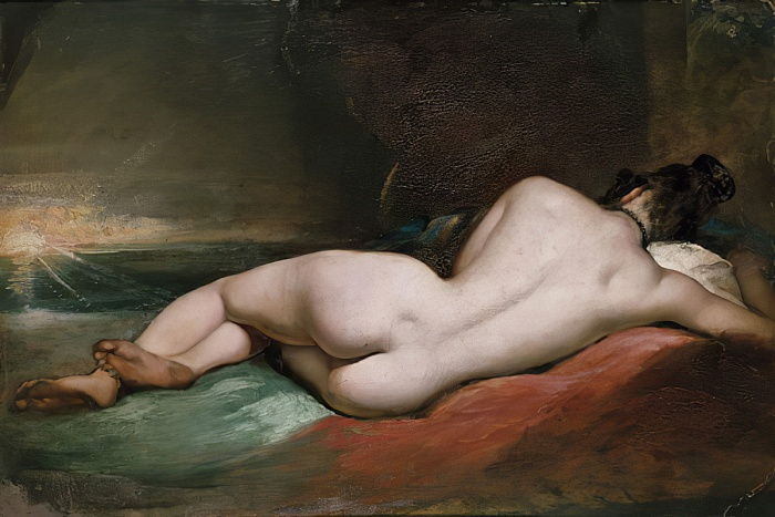 Modèle nu Nu inclinable - William Etty