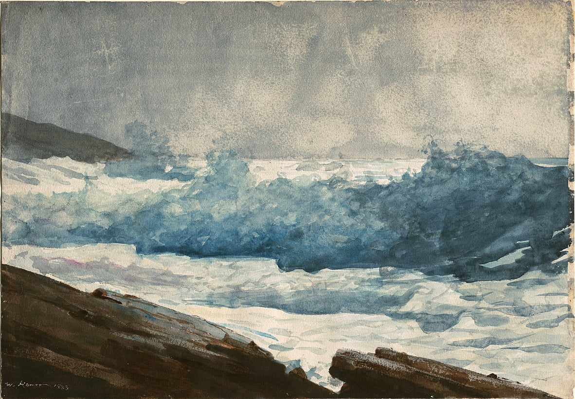 Prouts Neck, Breakers - Winslow Homer