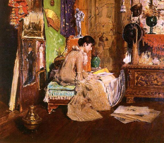 Dans le Studio Cornern - William Merritt Chase
